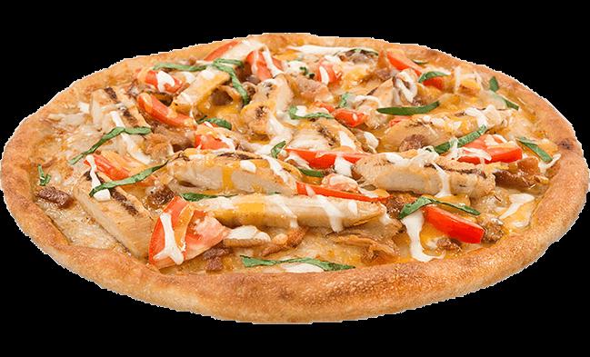Alfredo Chicken Tomato Pizza